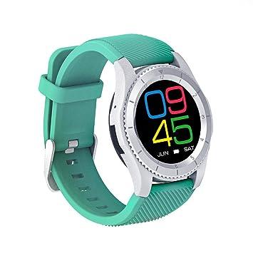 Bluetooth reloj inteligente pantalla redonda multi-modo de frecuencia cardíaca de la presión arterial de