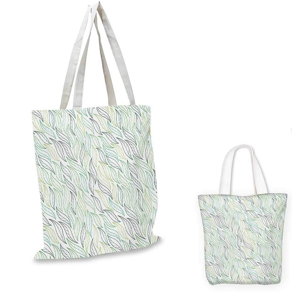 Leaf canvas messenger bag Floral Abstract Pattern Leaf Silhouettes in Retro Colors Gardening Plants canvas beach bag Army Green Tan Brown 12x15-10
