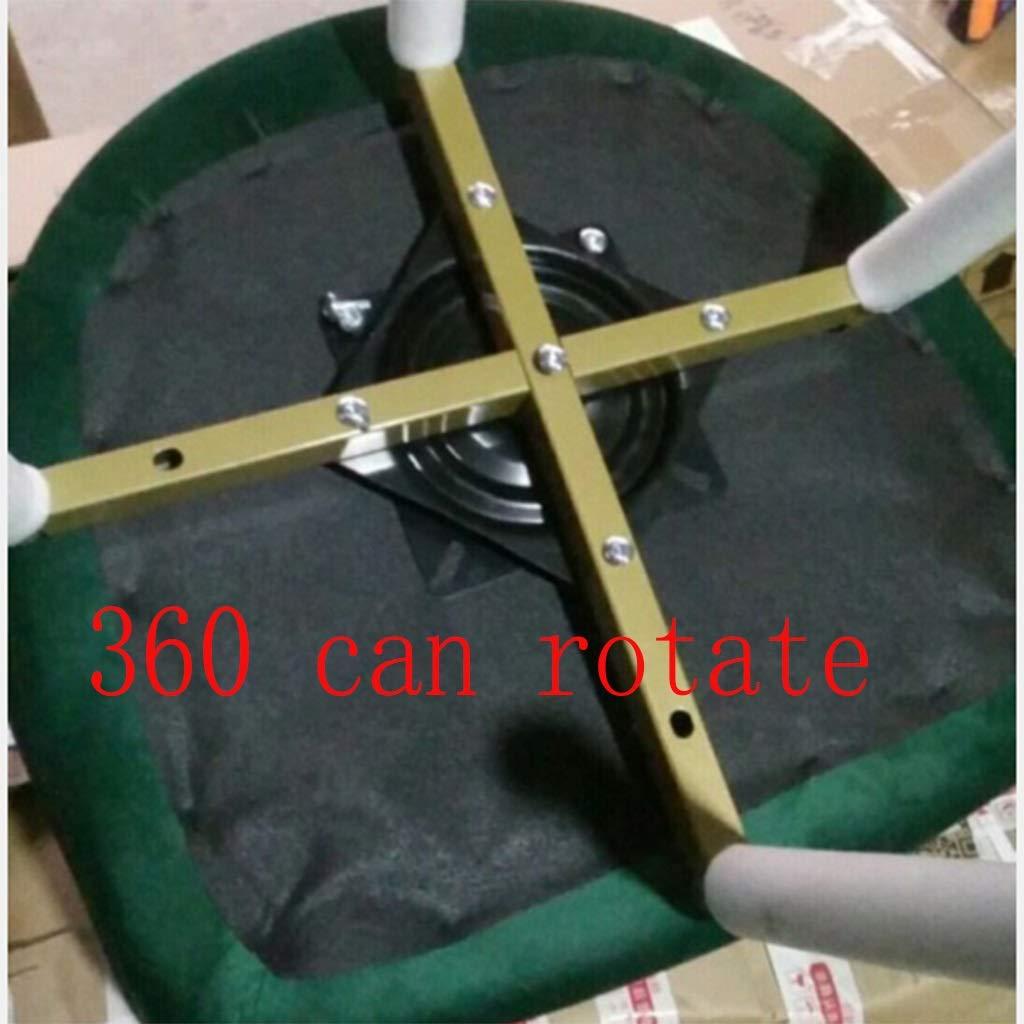 HEJINXL Matstol, retro design fåtölj med guldpläterade ben urval läder look nordisk skrivbordsstol roterande disk dator klädstol (färg: B) b