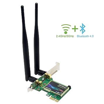 2.4//5GHz Dual band 802.11ac 867Mbps WiFi+Bluetooth 4.0 Desktop Adapter WLAN Card