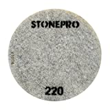 Stone Pro 20'' Flexible Resin DOT Pads 220 Grit - For Superior Polish On Stone, Concrete and Terrazzo