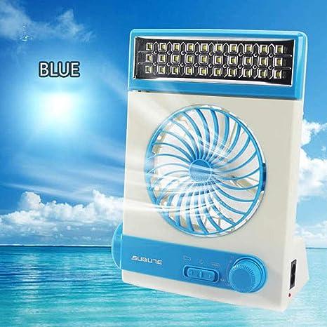 QTRT Ventilador solar Acampar Enfriadores de mesa Ventiladores ...