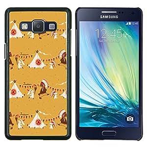Stuss Case / Funda Carcasa protectora - Beige indio nativo americano - Samsung Galaxy A5 ( A5000 ) 2014 Version