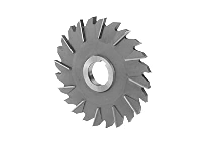 """4 x 3//8 x 1/"""" HSS Side Milling Cutter Staggered Tooth"""