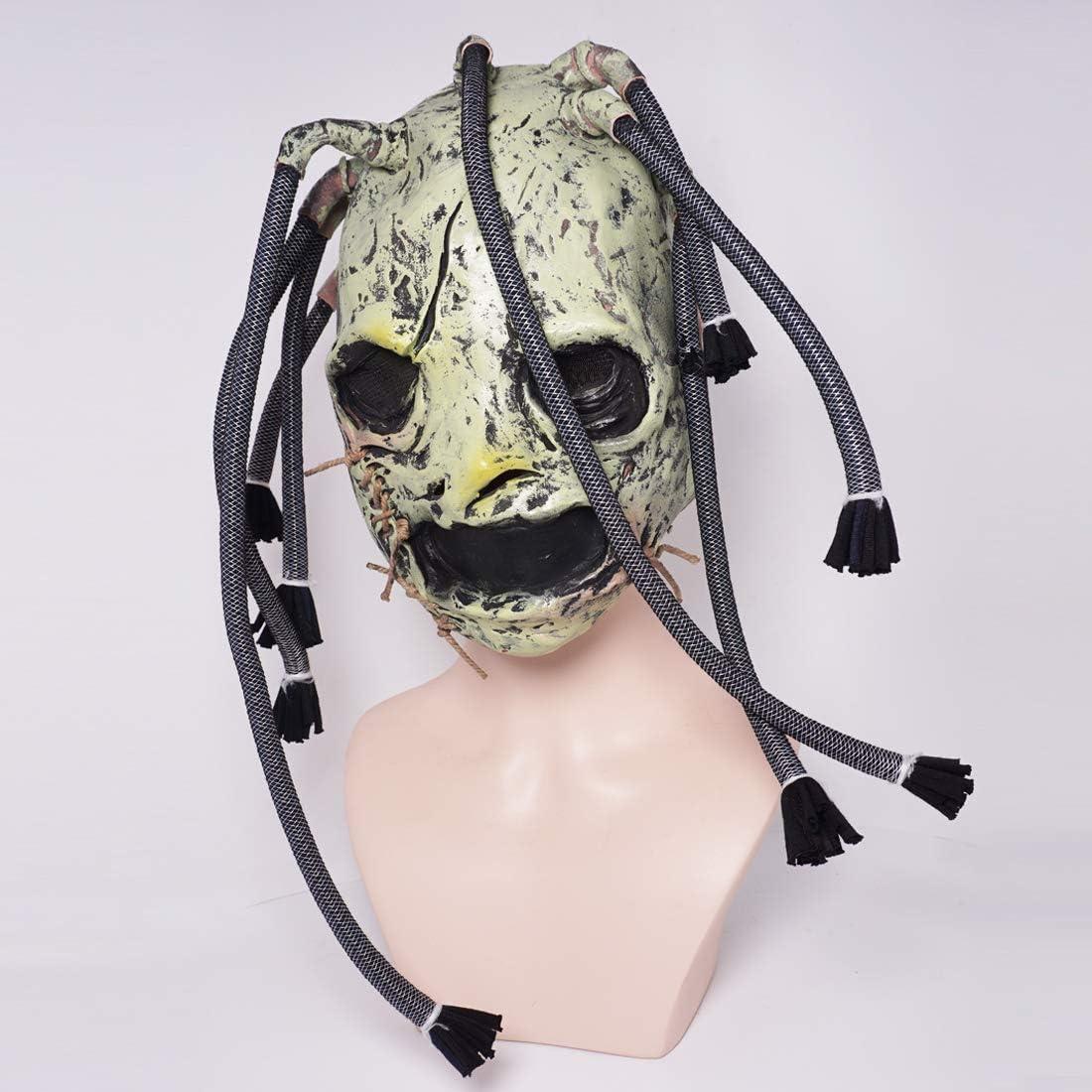 2019 Corey Taylor Latex Mask Dreadlocks Slipknot Fancy Dress Halloween Cosplay Music Party Prop