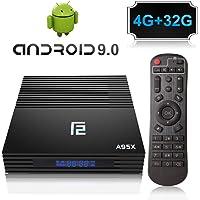 A95X Android 9.0 TV Box 4GB+32GB Amlogic S905X2 Quad Core Procesador con Dual-WiFi 2.4GHz/5.8GHz, Bluetooth 4.0, 4K*2K Ultra HD H.265, HDMI 2.1, USB 3.0 Smart TV Box