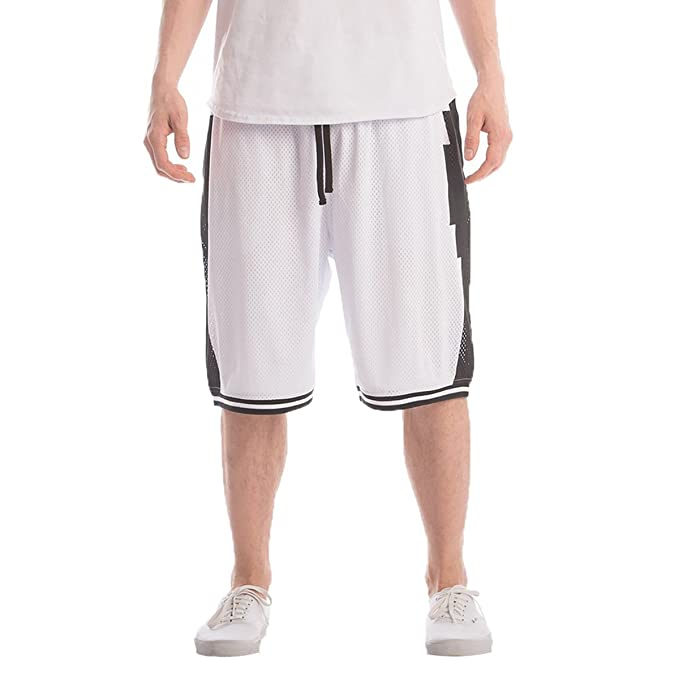 f0168f86 Crooks & Castles Men Tribal Knit Basketball Shorts Medium White ...