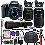 Canon EOS Rebel SL2 DSLR Camera with 18-55mm STM Lens Bundle + Canon EF-S 55-250mm f/4-5.6 is STM Lens and 500mm Preset Lens + 32GB Memory + Filters + Monopod + Spider Tripod + Professional Bundle