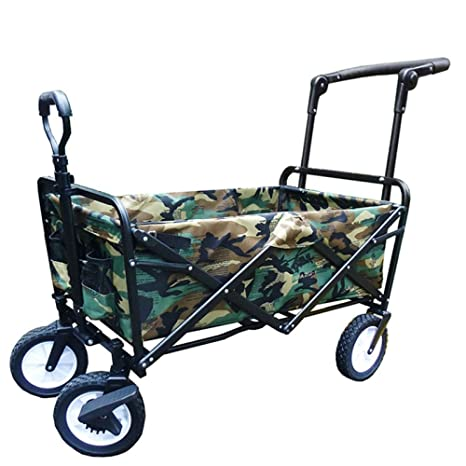 Olydmsky Carro Playa,Casa Plegable Shopping Trolley Carro portátil Equipaje Comprar Vegetal Carro Camping Pesca
