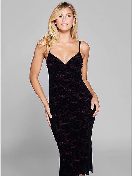 4d8c7d9eff Marciano Guess Women s Grace Velvet Lace Dress Jet Black  Amazon.ca ...