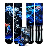 Oklahoma City Thunder Youth Size NBA Constellation Crew Kids Socks (4-8 YRS) 1 Pair - Russell Westbrook