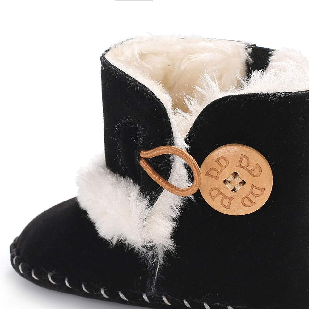 LABIUO Bottines B/éb/é Gar/çon Fille Bottes de Neiges Fond mou Antid/érapant Chaussures Premiers Pas Chaud Hiver /Épaissir Peluche Chaussons B/éb/é Coton Chaussures Pas Cher pour 0-18 Mois