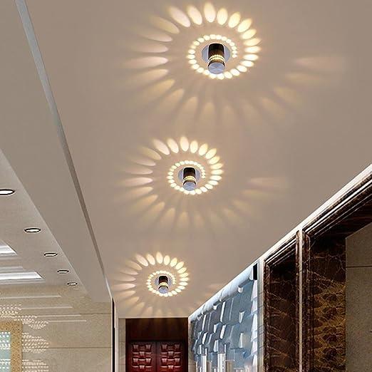 Fácil creativas techo empotrable Downlight integrada lámpara de techo lámpara de pared pasillo Gang Foco Lámpara de pared noche mesa lámpara efecto ...