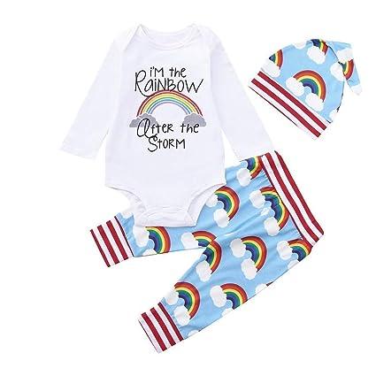Qiusa Ropa infantil unisex infantil de Baby Boy para niños pequeños ... ef08dc9a835