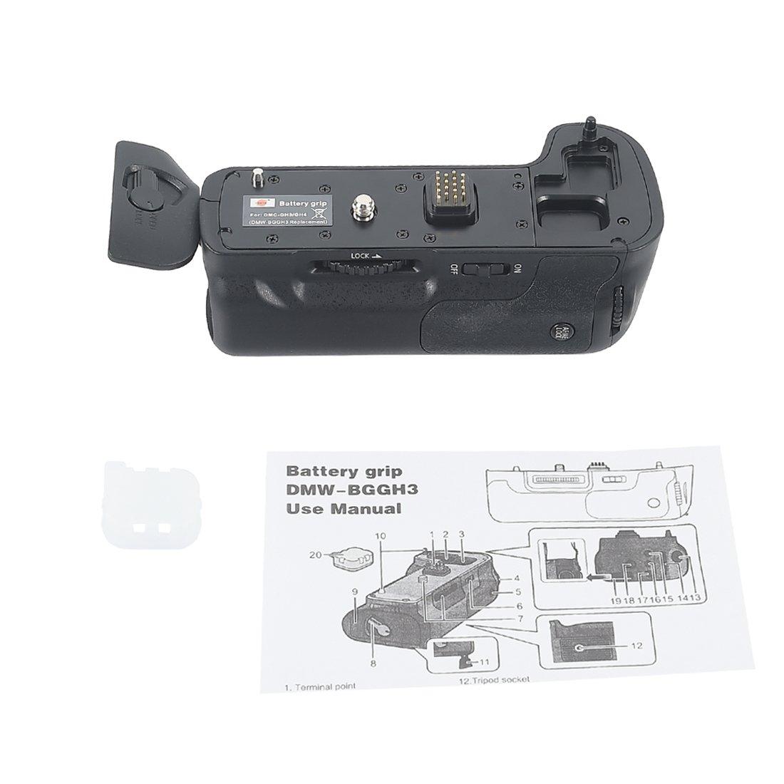 2pcs DMW-BLF19E DSTE GH3 Replacement Battery Grip for Panasonic Lumix GH3 Camera