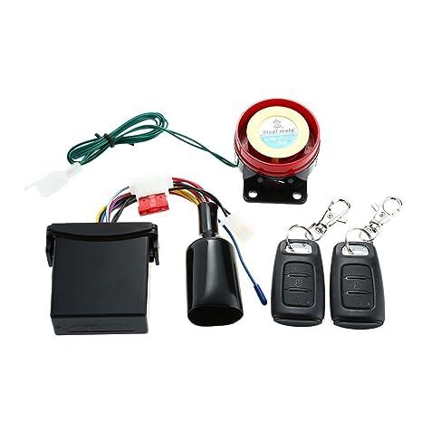 Steelmate 886E - Sistema de Alarma 1 Via Impermeable ECU Inmovilización de Motor para Motocicleta con
