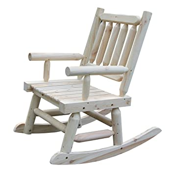 Wooden Rocking Chair With Natural Material Comfortable Oversized Patio  Furniture, Single VIVA16026