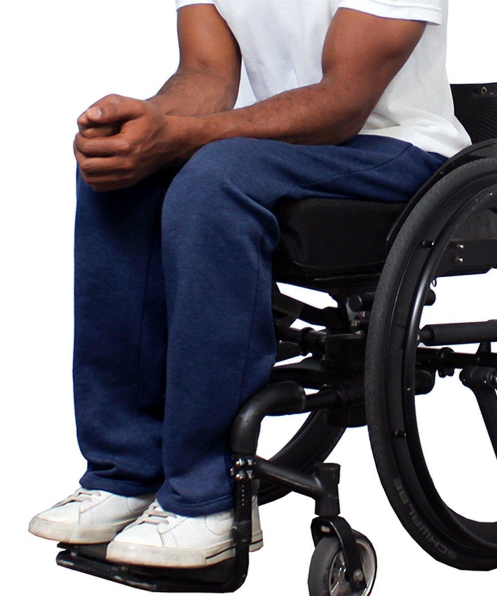Fleece Adaptive Wheelchair Pants For Men - Disabled Adults Silvert' s 50940