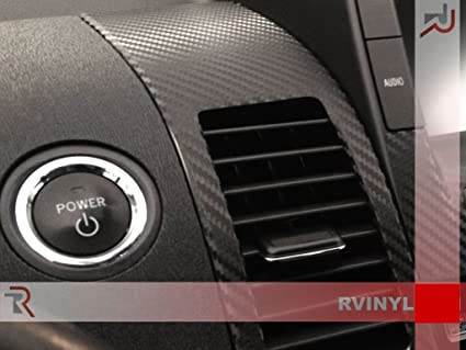 Carbon Fiber 4D Rdash Dash Kit Decal Trim for Toyota Prius 2004-2009 Black