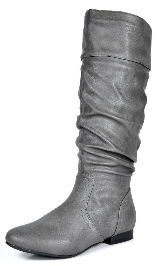 04ffca9a138c ... DREAM PAIRS Boots Women s Flat Knee High Boots PAIRS B071X75KGM 7 B(M)  US ...