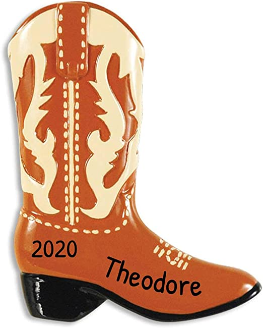 North West Halloween Costume 2020 Amazon.com: Personalized Cowboy Brown Boots Christmas Tree