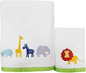 Allure Home Creation Hippo Cotton Two Piece Towel Set