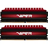 Patriot Viper 4 16GB (2 x 8GB) DDR4 3000MHz C16 XMP 2.0 Performance Memory Kit - Black and Red - PV416G300C6K
