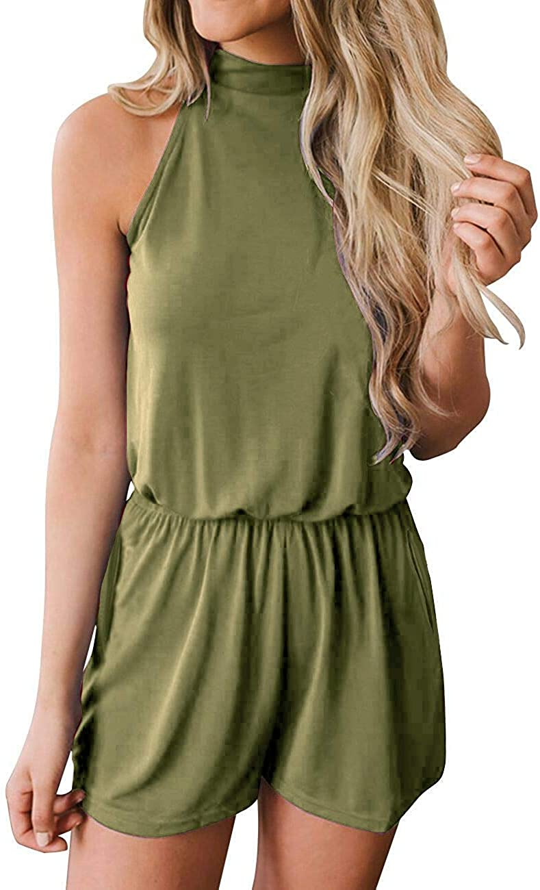LOOLY Girls Halter Neck Baggy Romper Sleeveless All in One Playsuit Jumpsuit