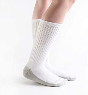 product image for Doc Ortho Ultra Soft Silver Diabetic Socks, 2 Pairs, Crew