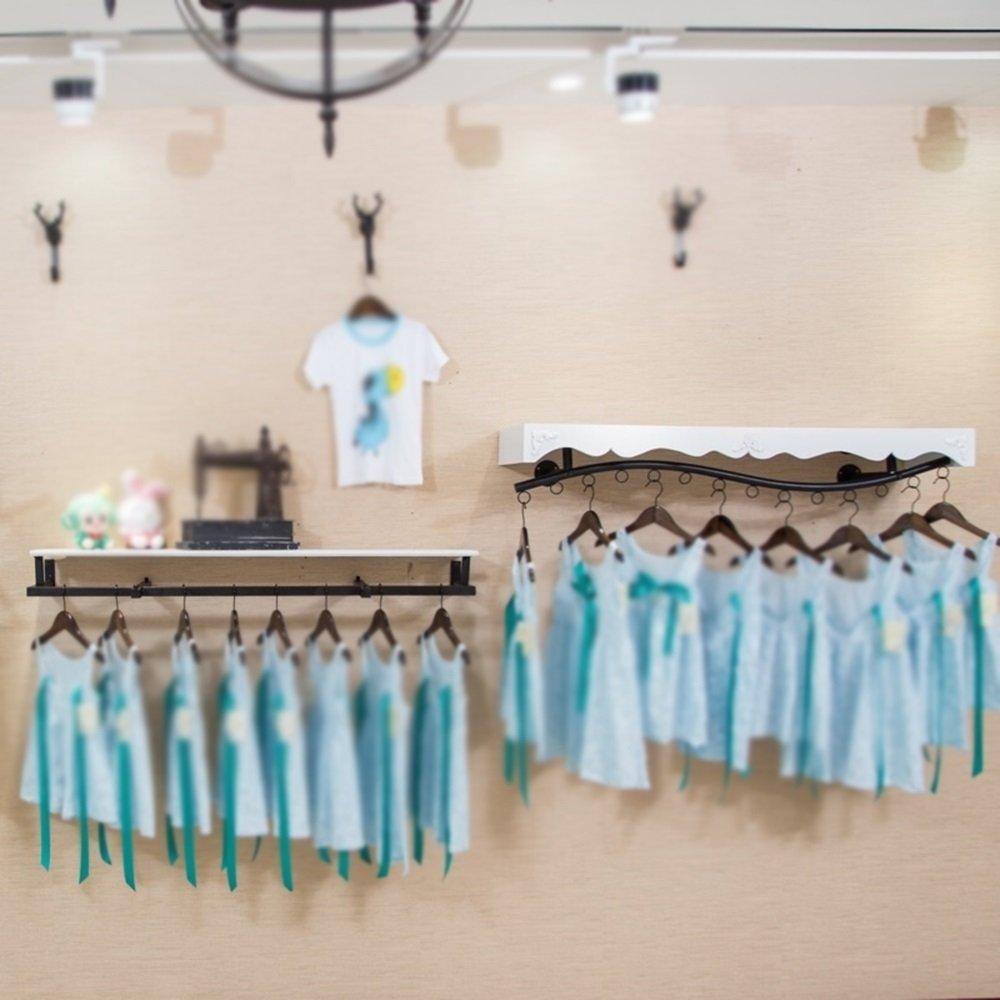 Clothing rack display rack / wall side shelf / children's clothing rack / clothing store hanger / womens clothing store rack / shelf / combination racks / length 120cm hanger by Hangers (Image #4)
