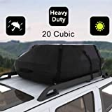 Oanon 20 Cubic Car Cargo Roof Bag - Waterproof Duty Car Roof Top Carrier - Easy to Install Soft Rooftop Luggage Carriers…
