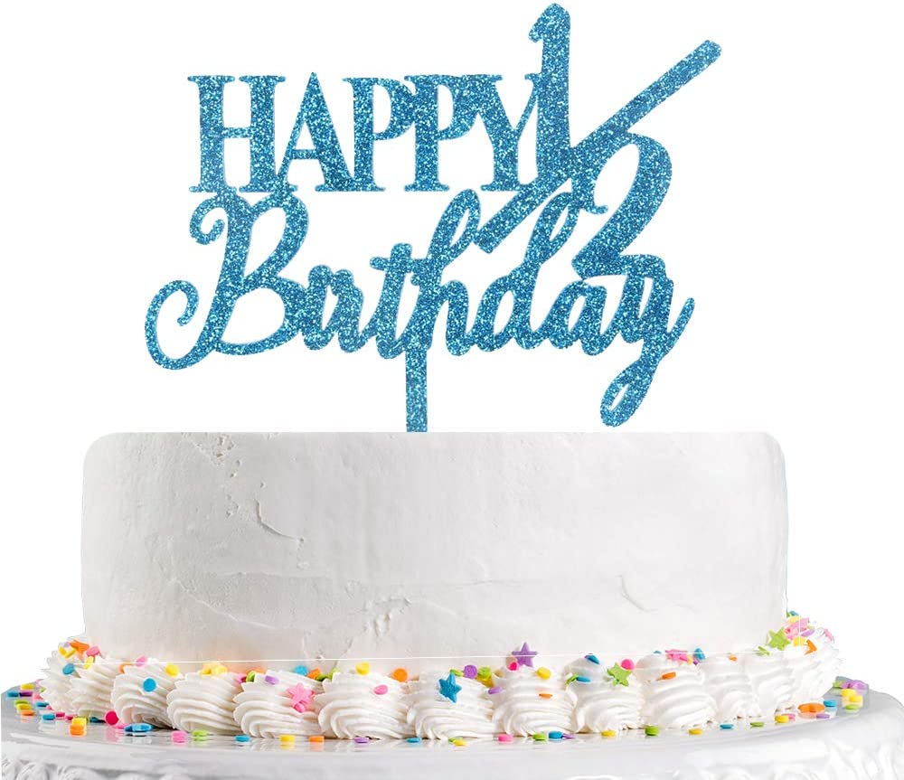 Astounding Amazon Com Happy 1 2 Birthday Cake Topper Half Birthday Baby 6 Personalised Birthday Cards Paralily Jamesorg