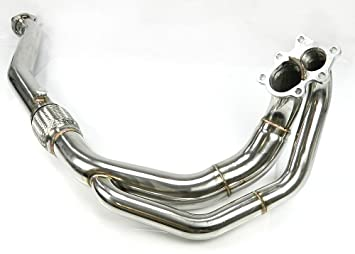 Acero inoxidable Down de Pipe - OPEL Calibra 2.0 TURBO 4 X 4 C20let: Amazon.es: Coche y moto
