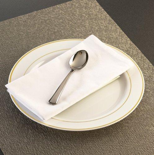 EMI Yoshi Koyal Glimmerware Teaspoons, 6.25-Inch, Silver, Set of 20 -