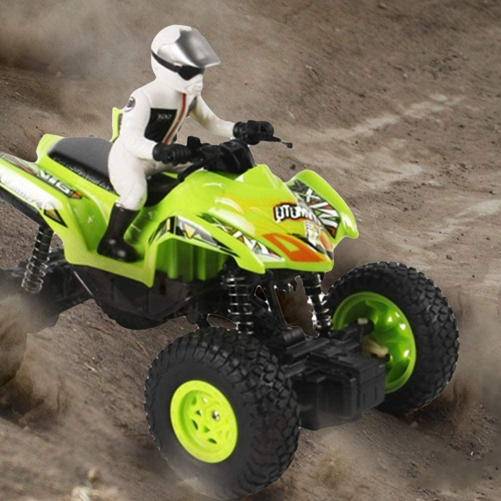 Naranja Verde Verde Drfeify RC Off-Road Motorcycle Control Remoto Quad Bike Toy Off-Road RC Bike Azul