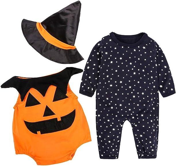 ZODOF Ropa de Halloween Recién Nacido Bebé Niño Niña Calabaza ...