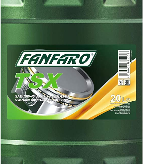 1 X 20l Fanfaro Tsx 10w 40 Api Sl Cf Motoröl 501 01 505 00 229 1 Auto