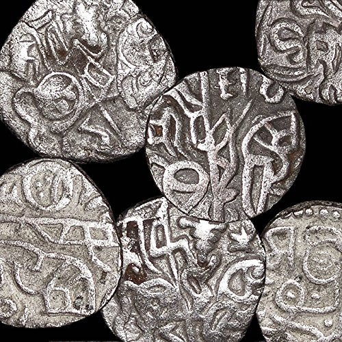 Medieval Indian SHAHI DYNASTY OR LATER JITAL SILVER COIN - You get ONE Authentic Ancient Coin from 700-1200 AD from INDIA - Genuine Antique