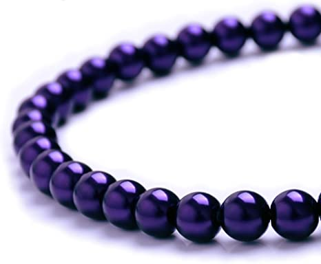 Wholesale Beautiful Purple Round Spacer Beads Jewelry Making Finding DIY 6mm