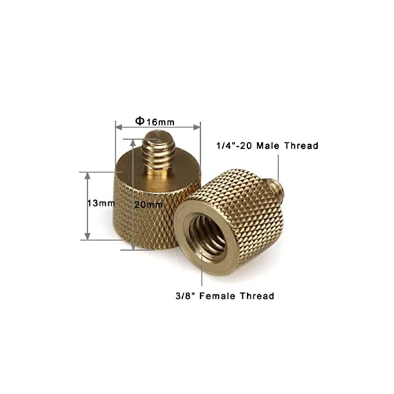 """Optix Pro Universal Adapter Screw for Mounting Cameras with /¼/"""" Thread to GoPro//Action Camera Mounts"""