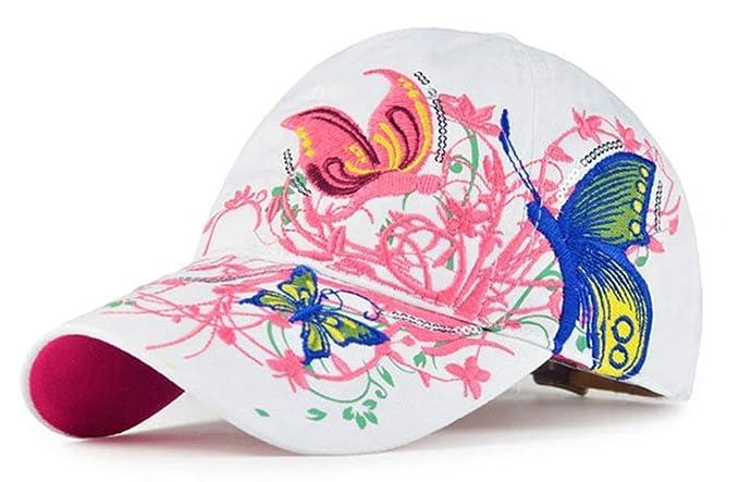 Gorra De Béisbol De Moda para Mujer con Gorra Sencillos De Béisbol Bordada  con Mariposa Y 8b63d0c8943