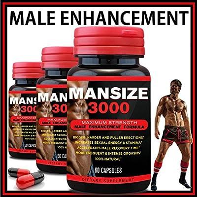 Mansize 3000 Male Enlarger Xl Sexual Performance Enhancement Pills Best Male Testosterone Male Penis Enlarger Growth Pills Sex Enhancer Big Dick