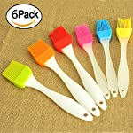 kingleder Assorted Color Silicone Basting Brush for Desserts Baking Barbecue Pastry BBQ(Set of 6) 16 Made of FDA Flexible Silicone with a steel core inside and BPA free, 100% food-grade silicone Comes in 6 Assorted colors Baking brushes, Blue/Green/Orange/Pink/Red/Yellow Easy to clean, silicone design, easy to wash with hands, flush with soapy warm water to get the oily stuff down, and then hang it to air dry
