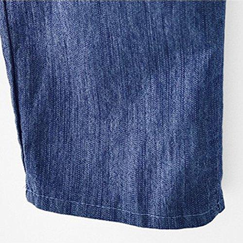 Vaqueros Cinturilla con Pantalones Cintura Negro AnyuA Largo Elástica Básicos Elástica n1WSxwgqw
