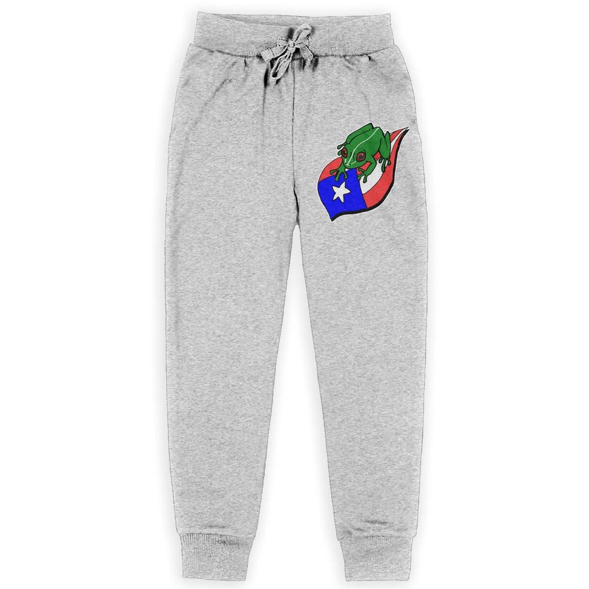 Puerto Rico Se Levanta Frog Teenagers Cotton Sweatpants Casual Joggers Pants Active Pants