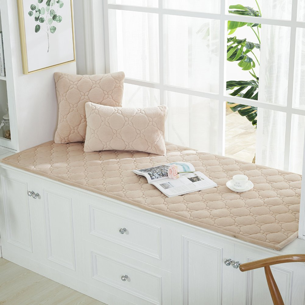 XMZDDZ Thicken Tatami Bay Window Cushion,Window Sill Balcony Mat For Living Room Dining Room Cover seats Sill Pad Non-slip Floor Mat-G 60x180cm(24x71inch)