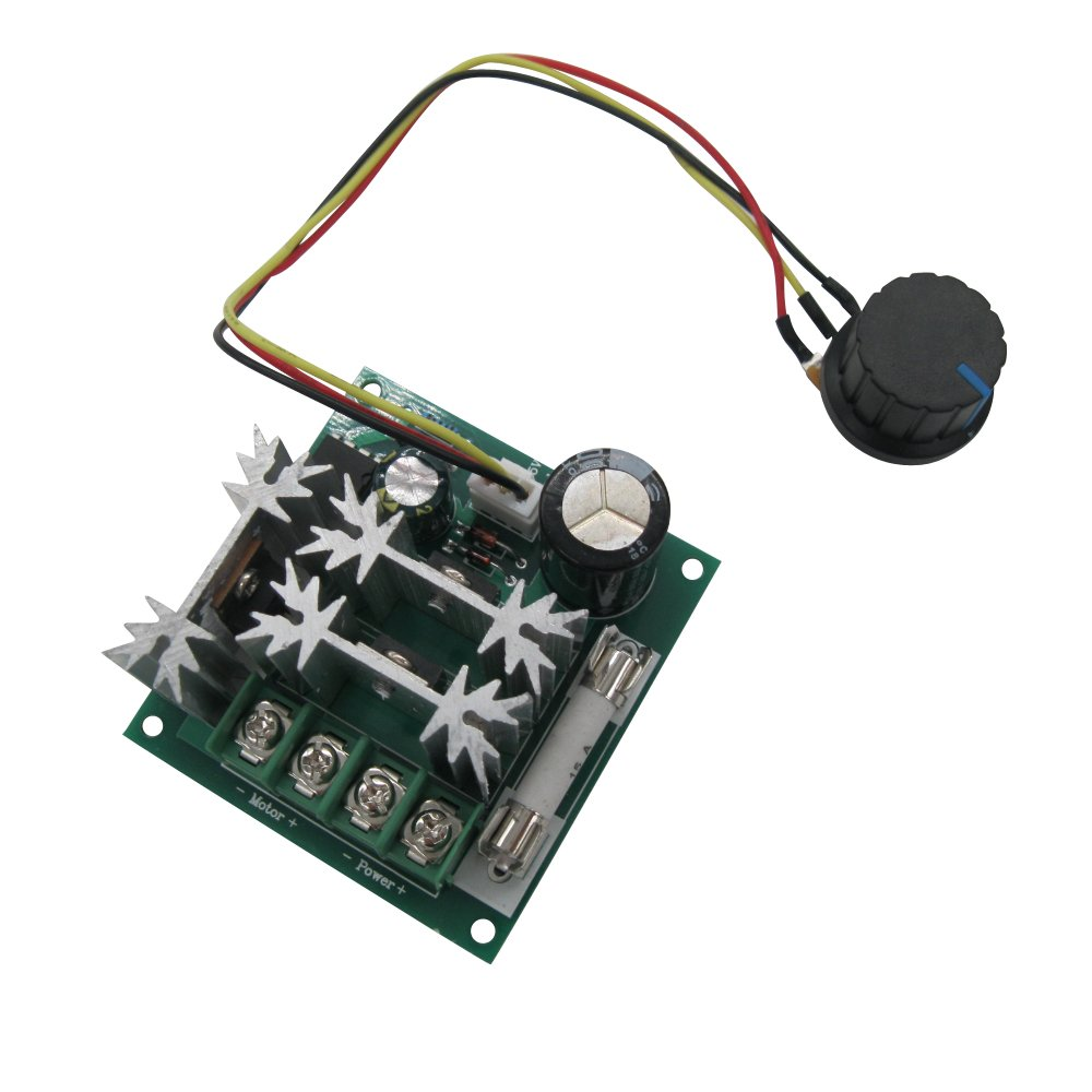TWTADE/DC Motor Controller Motor Speed Control 6V-90V 15A 1000W 16KHZ 6V 12V 36V 60V 90V speed Regulator Module Support PLC Control Speed Controller Dimmer Governor Regulation MX15A90V