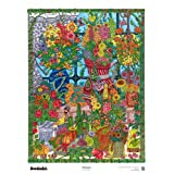 "The Original DoodleArt Flowers Adult Coloring 24""x 34"" & Precision 12 Marker Set"