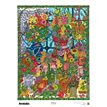 """The Original DoodleArt by PlaSmart - Flowers, Adult Coloring 24""""x 34"""" Poster &Non- Toxic Precision 12 Marker Set, Reduce Stress, Ages 8 and Up"""