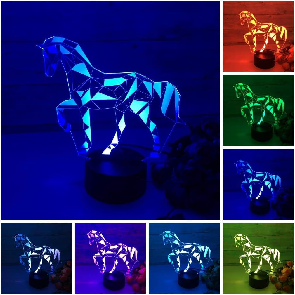 3D Optical Illusion Veilleuse LED Hi Azul 7/Modifier les couleurs de Touch Lampe de bureau Table Lampe D/éco avec plateau acrylique /& Chargeur USB pour cadeaux Dragon Ball 7/avec lampe riss Support